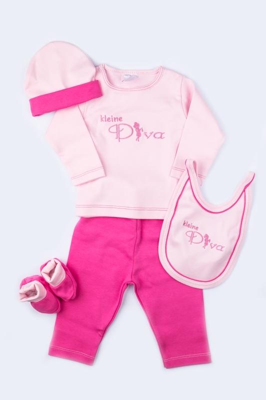 5-delige kadodoos kleine diva, roze/fuchsia
