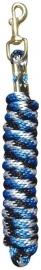 Halstertouw 3m blauw/zwart/wit