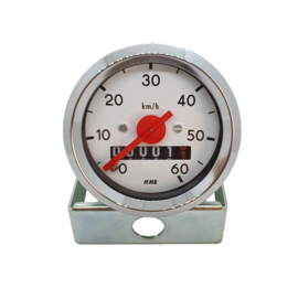 6. Speedometer 48MM White
