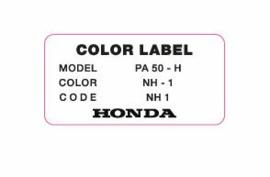 """Color Label NH-1 """"Black"""""""