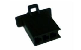 3-Pole Male Connector Black