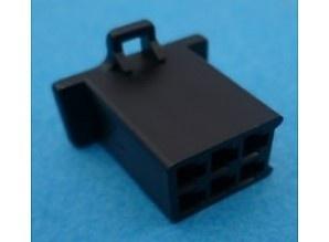 6-Pole Male Connector Black