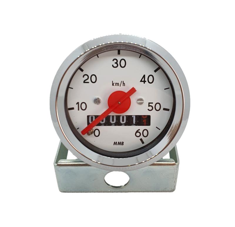 6. Speedometer 48MM White