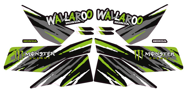 "Honda Wallaroo Special Set ""Monster Energy"""