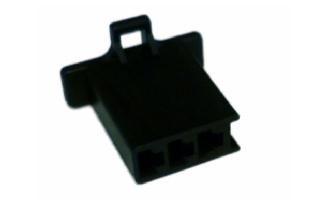 3-Pole Male Connector Black