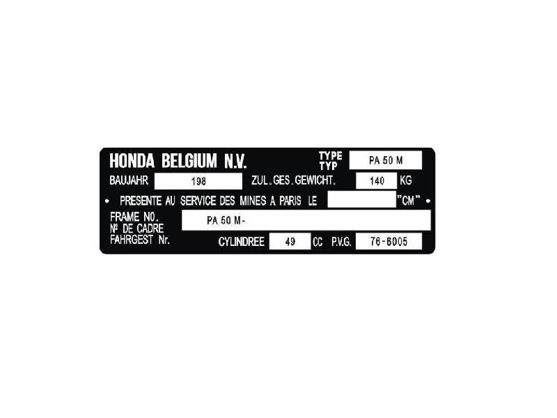 20A198. Plate Registered A-Klasse