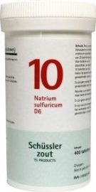 Natrium sulfuricum 10 D6 Schussler 400 tabl.