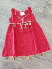 Dress with tassels 100% cotton