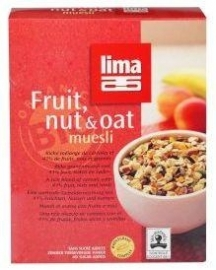 Lima fruit, nut & oat muesli 500g