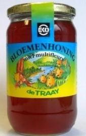 Traay bloemen honing vloeibaar eco 450g