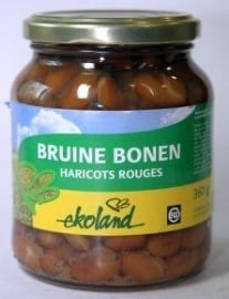 Ekoland bruine bonen in pot 360g