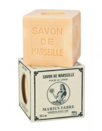Marius Fabre Savon Marseille blanc 400g