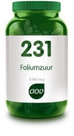 AOV 231 Foliumzuur 5 mg 60 vcap.