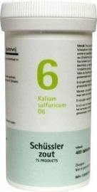 Kalium sulfuricum 6 D6 Schussler 400 tabl.