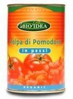 La bio idea tomaten gepeld (blik) 400g