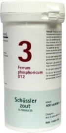 Ferrum phosphoricum 3 D12 Schussler 400 tabl.