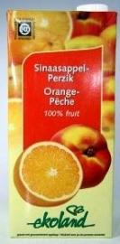 Ekoland sinaasappel-perziksap 1000ml