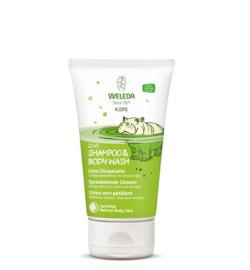 Weleda Kids 2 in 1 Shower & shampoo sprankelende limoen 150 ml.