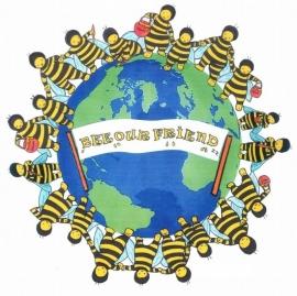 Bee our Friend Baby Rompertje lange mouw