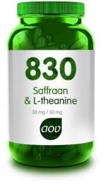 AOV 830 Saffraan & L-Theanine 30 vcap.