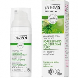 Lavera Moisturizing fluid pore refining organic mint 50 ml.
