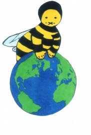 Bijen Baby en Kinder T Shirt lange mouw