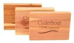 Cederhout anti mot ladeblokjes 4st