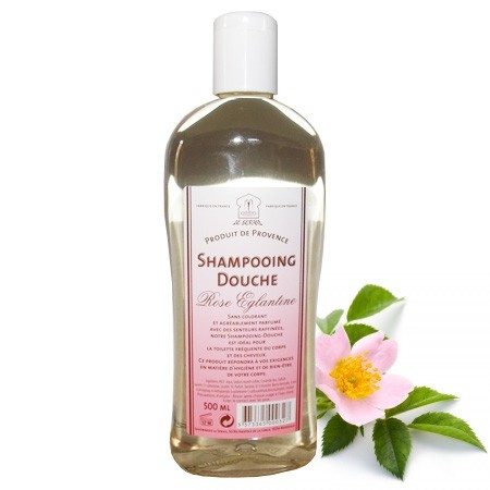 Marseille shower & shampoo Roses 3x500ml