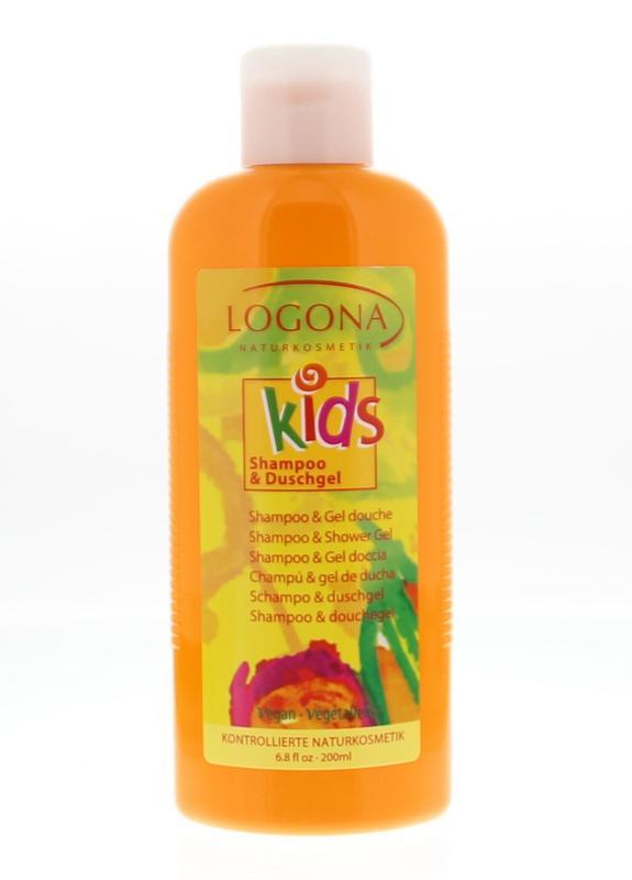 Logona Kids 2 in 1 shampoo/douche 200 ml.