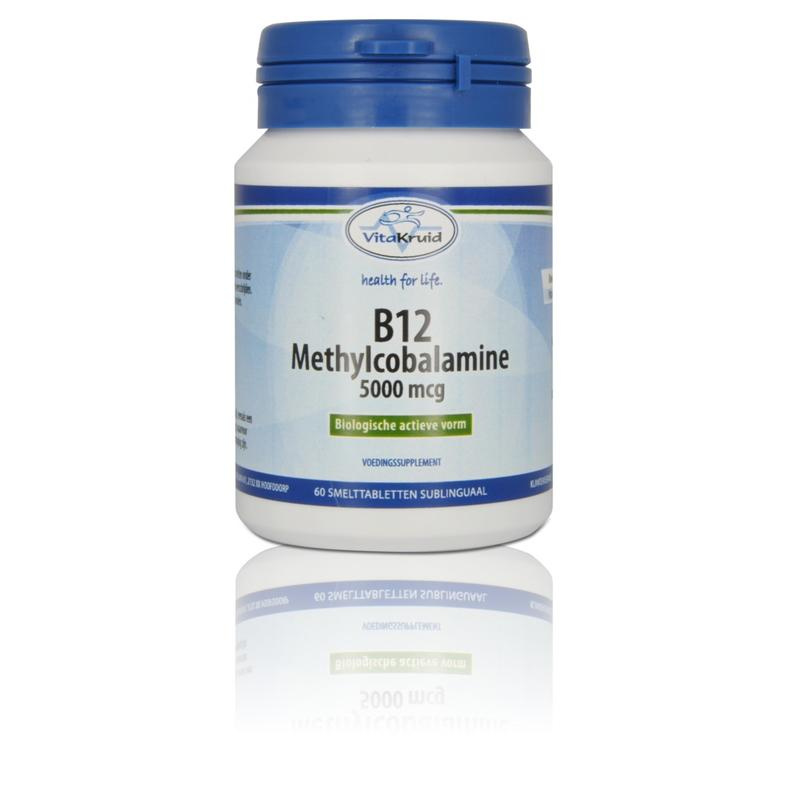 Vitakruid B12 Methylcobalamine 500 mcg 60 tabletten.