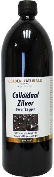 Colloïdaal zilver water Golden Naturals 15 ppm 1000ml.