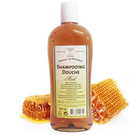 Marseille bruser & shampoo Honning 3x500ml