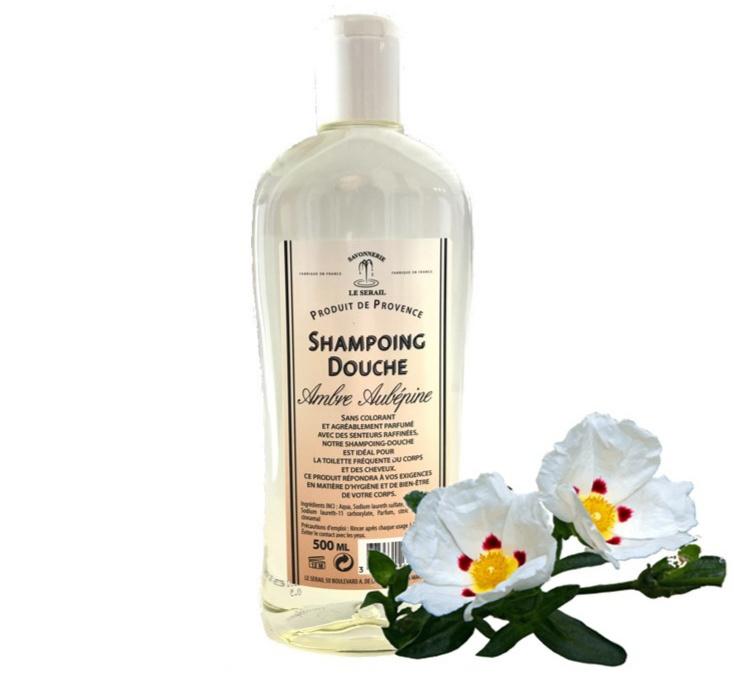 Marseille Dusche & Shampoo Amber und Hawthorn 3x500ml