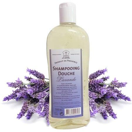 Marseille brusebad og shampoo Lavendel 3x500ml