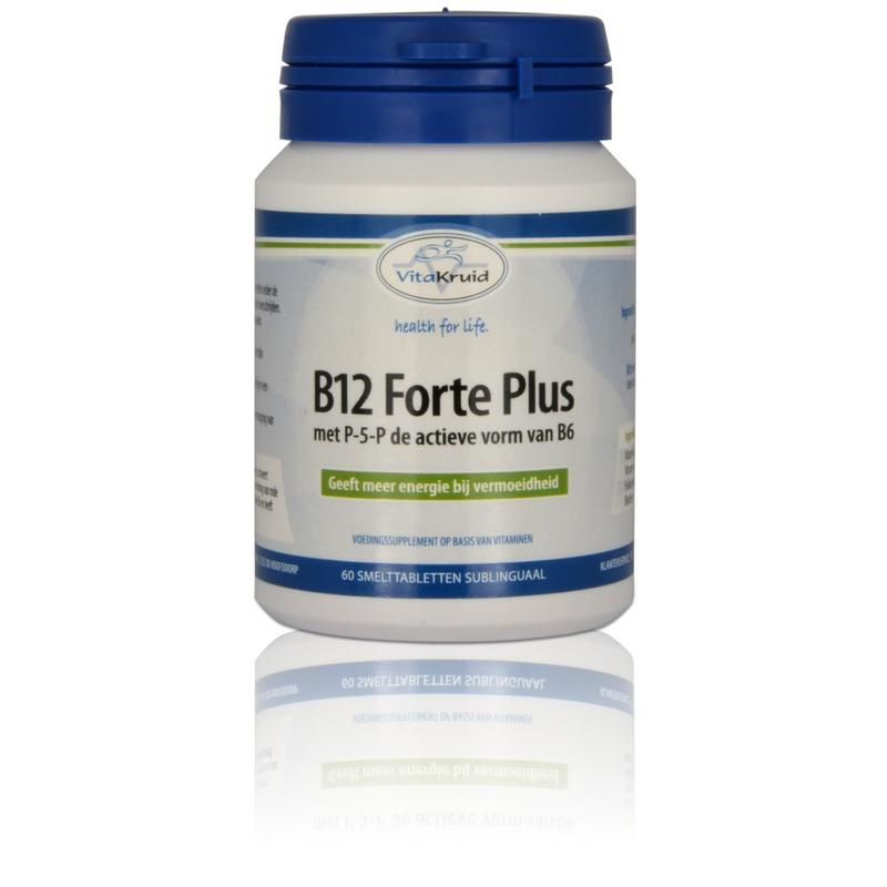 Vitakruid B12 Forte plus 3000 mcg met p-5-p 60 tabletten.