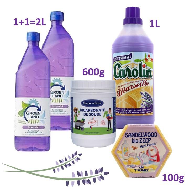 Bio huishoud schoonmaak middelen KORTING pakket.