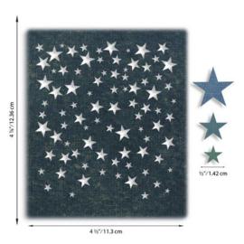 664732 Sizzix Thinlits Die Set - Falling Stars 4PK Tim Holtz