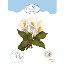 EC1636 Elizabeth Craft Metal Die Garden Notes-Calla Lily By Susan's Garden Club