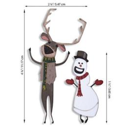 664753 Sizzix Thinlits Die Set - Papercut Christmas #2 Colorize 15PK Tim Holtz