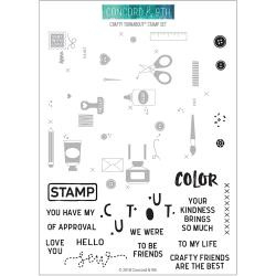 "555585 Concord & 9th Clear Stamps Crafty Turnabout 6""X8"""