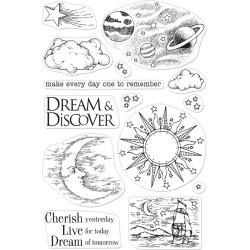 """588352 Hero Arts From The Vault Clear Stamp Celestial 4""""X6"""""""