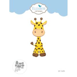 """EC1619 Elizabeth Craft Metal Die Giraffe 1.4""""X3.8"""""""