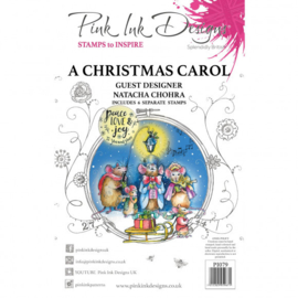 PI079 Creative Expressions Pink ink Carol clear stamp