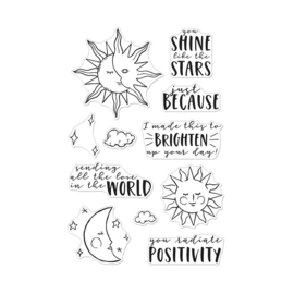 "646292 Hero Arts Clear Stamps You Shine 4""X6"""