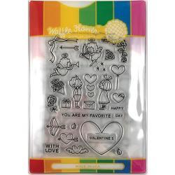 565774 Waffle Flower Stamp & Die Set Favorite Valentine