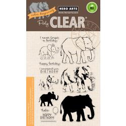 "HA-CM224 Hero Arts Clear Stamps Color Layering Elephant 4""X6"""