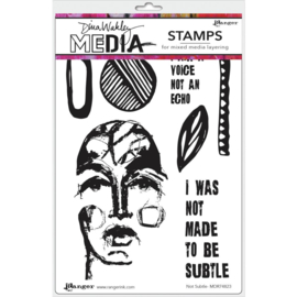 "MDR 74823 Dina Wakley Media Cling Stamps Not Subtle 6""X9"""