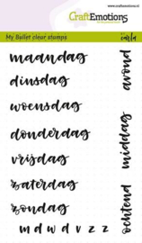 130501/1705 CraftEmotions clearstamps A6 - Bullet Journal - dagen 10mm
