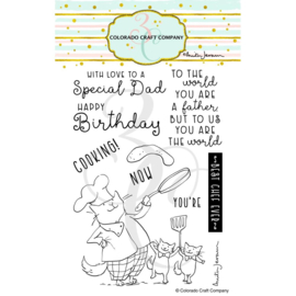 "654870 Colorado Craft Company Clear Stamps Dad's Cooking 4""X6"""
