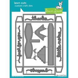 LF1484  Lawn Cuts Custom Craft Dies Gift Box